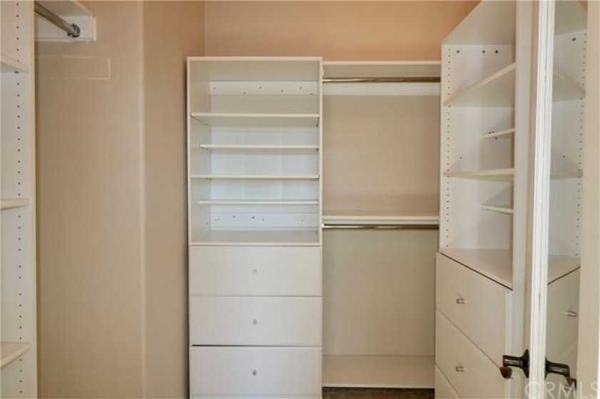 Master Suite Walk-in Closet with Built-ins