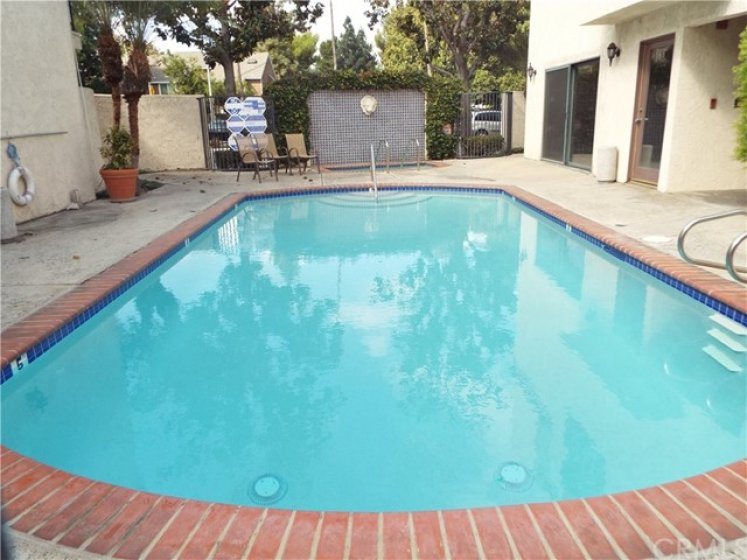 Nearby community pool and spa.