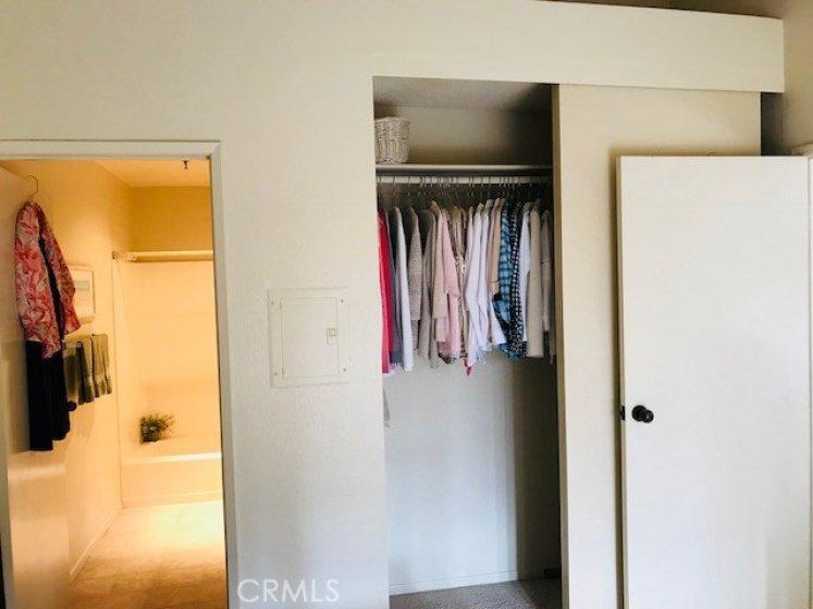 Master bedroom has 2 closets.