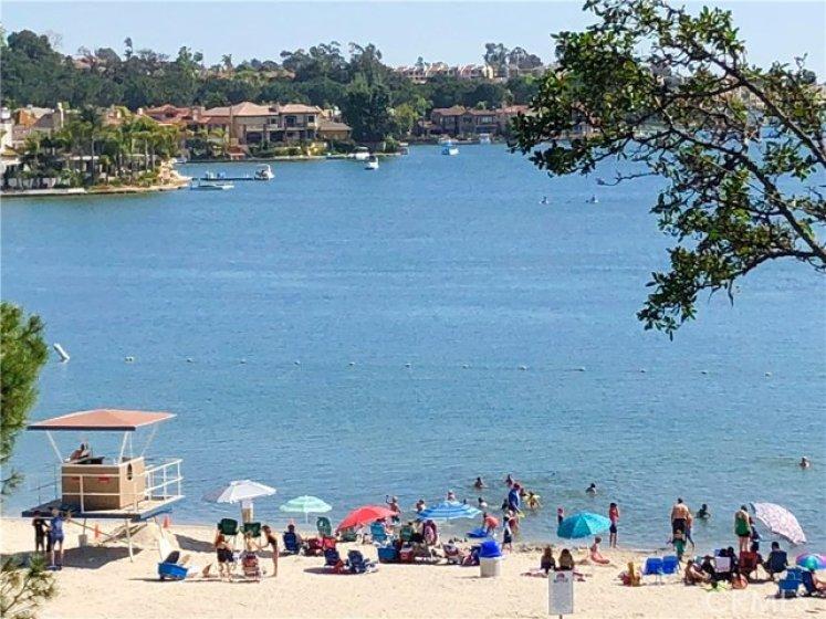 enjoy 2 beaches at Lake Mission Viejo