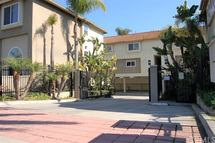 Gated entrance to this 16 unit development.
