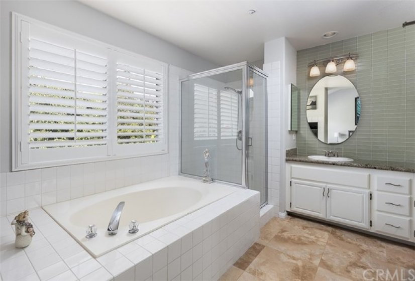 Master Bedroom Bathroom with on demand electric water heater.