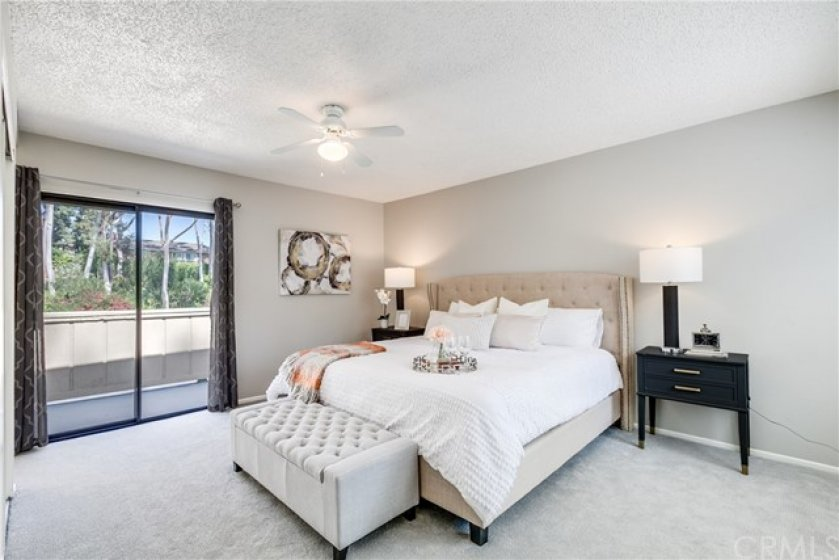 Large Master Suite with private balcony