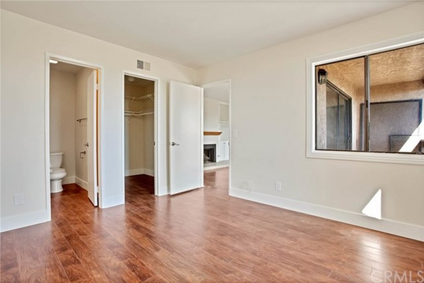 Master bedroom, bath and walk in closet. Completely updated.