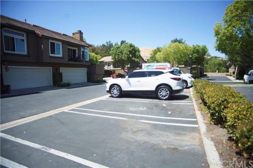 Guest parking in front of unit