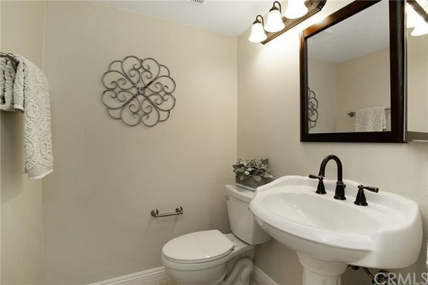 Remodeled bath with shower