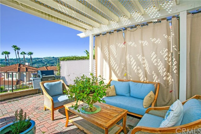 private sitting area on patio