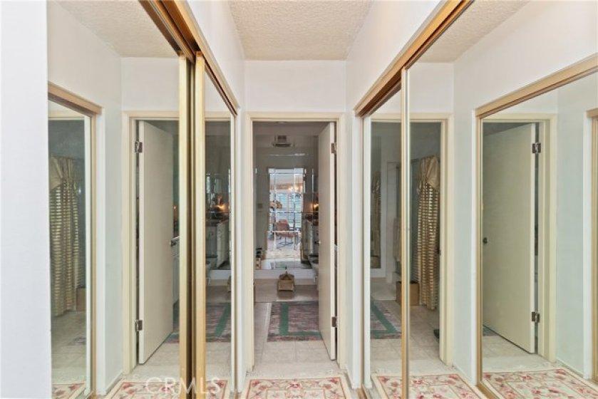 dual mirror closets - master bedroom