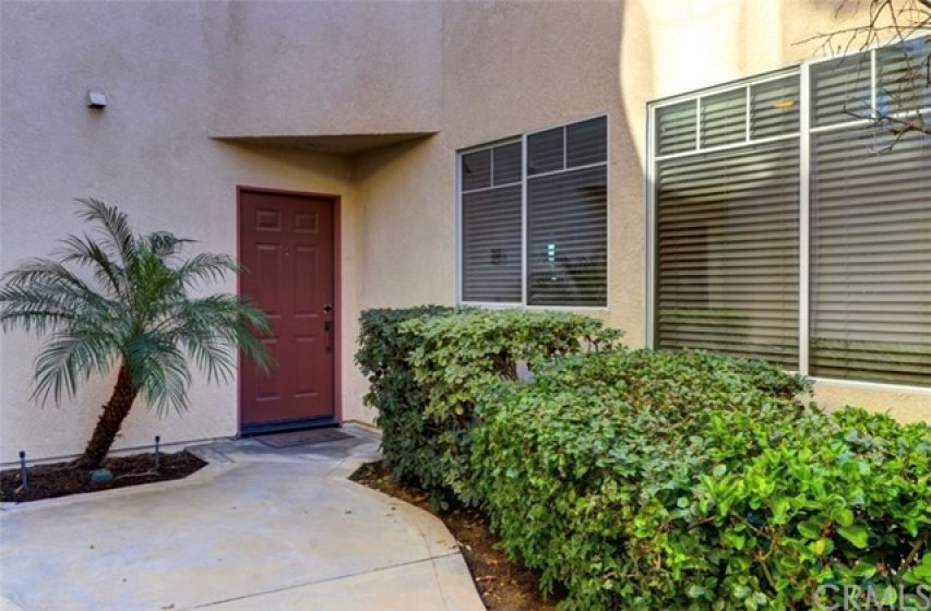 Your front door in this cozy path landscaped by HOA so you don't have to worry!  :)