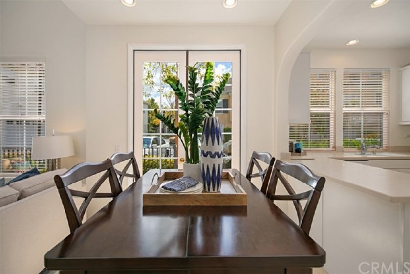 Dining room can easily accommodate your table and chairs.
