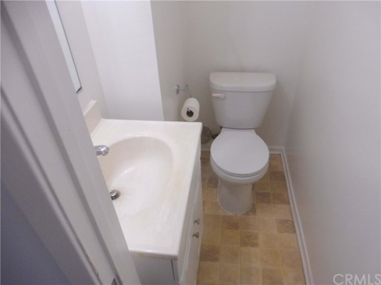 Lower level guest bath with new toilet