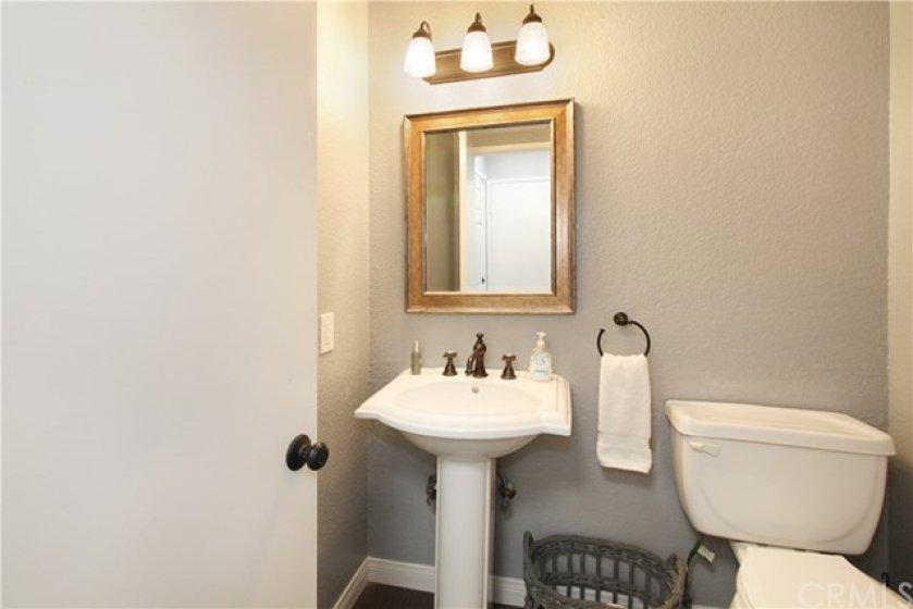 Half bathroom, powder room, on main floor