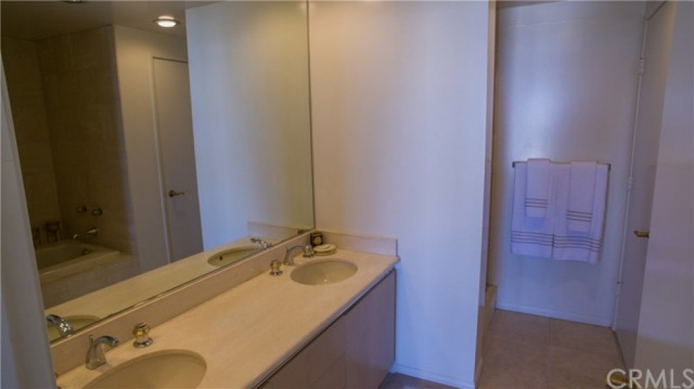 Master full bath double sinks with shower and spa tub