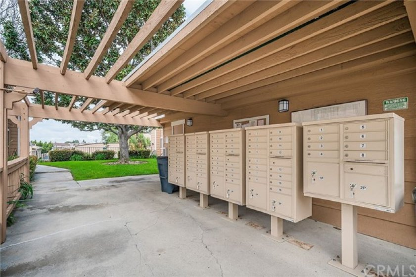 Secure and safe mailboxes.
