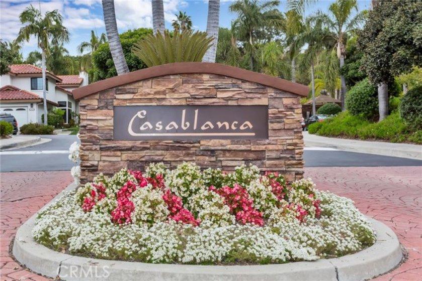 Entrance to the Casablanca community.