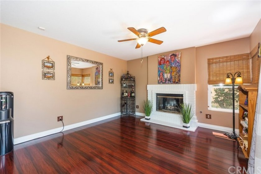 Family room is spacious enough for large gatherings.