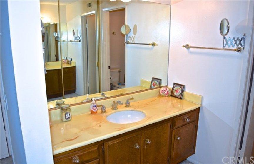 Master Bathroom sink area.