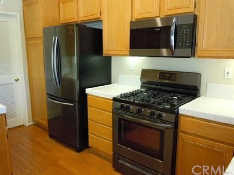 Brand new top of the line Refrigerator, Gas range, Microwave