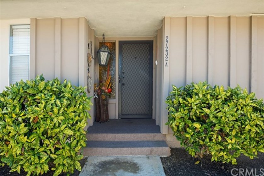 Covered entry with screen door