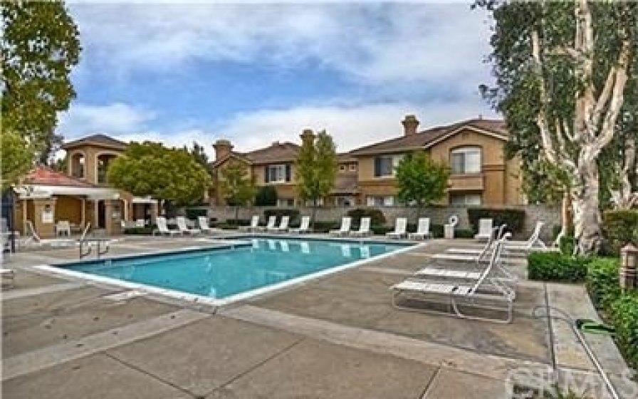 Community heated pool for meeting your neighbors and enjoying the California Sun