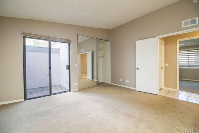 Master bedroom and atrium.