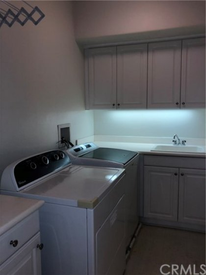 Spacious laundry room upstairs.  Washer and dryer included.