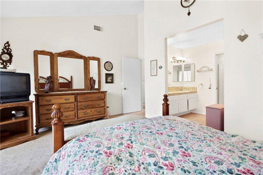 Master bedroom looking toward bathroom