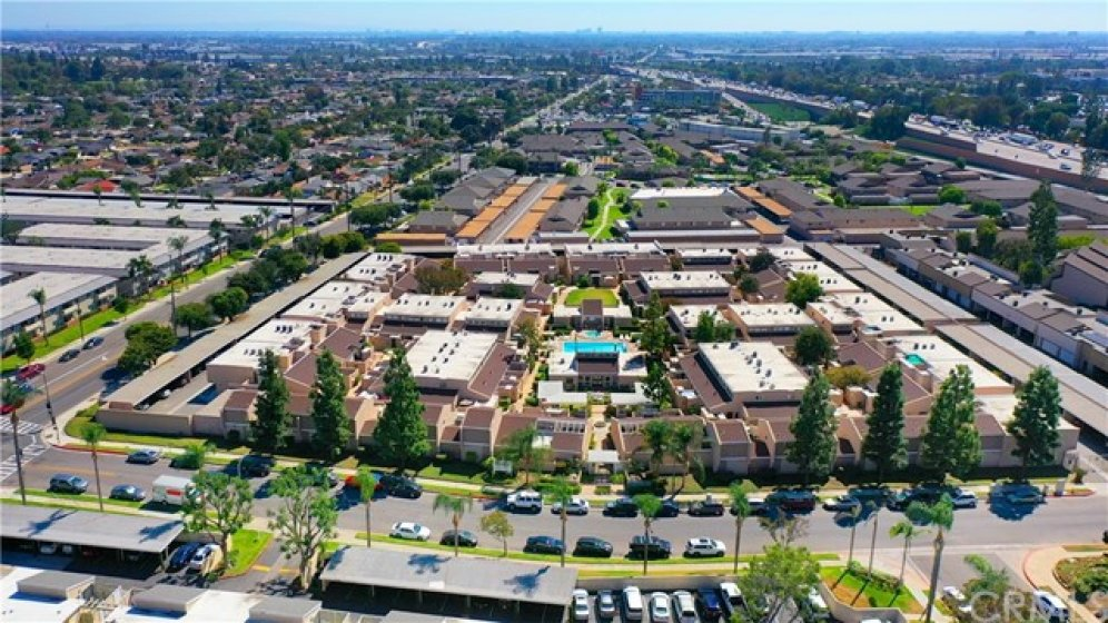 Private Fullerton Arbor HOA Community as seen from Above.