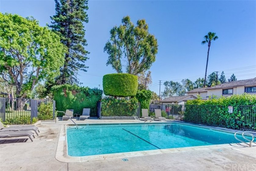 Private HOA pool is only accessible to the lucky 22 homeowners in this community.