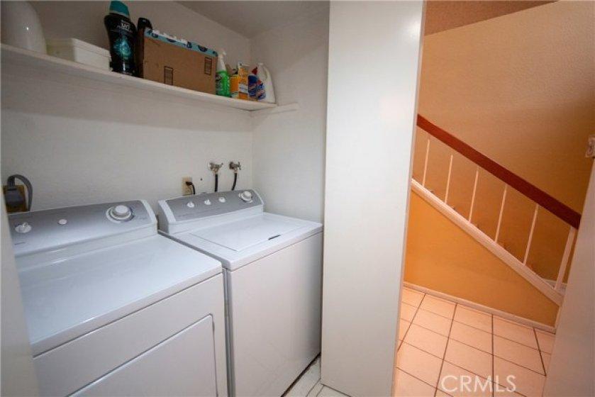 Indoor Laundry Area