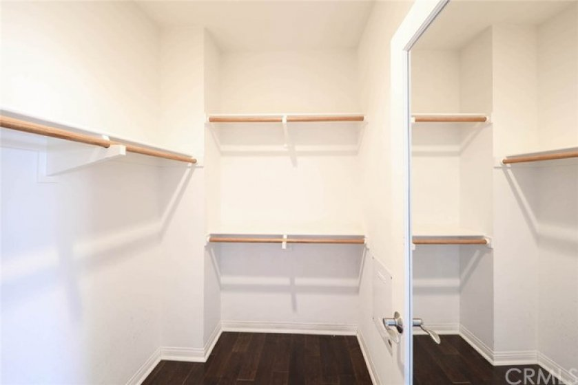 Walk in closets in Master bedroom offers plenty of space for storage.