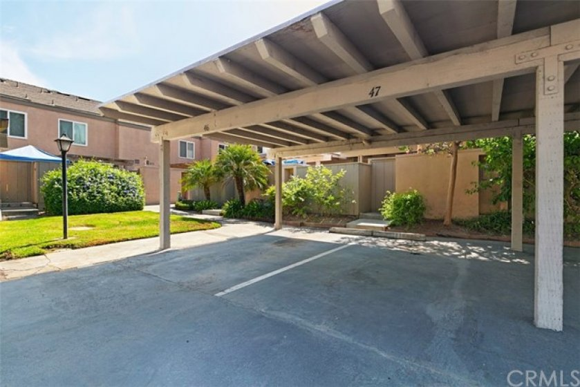 1 of 2 assigned carports.  In the front of the complex is plenty of guest parking