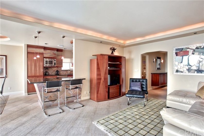 Open Concept. Sit down ocean view from living room and kitchen.