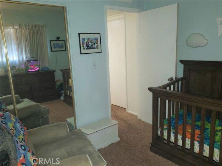 BEDROOM #2 - VIEW TO DOORWAY