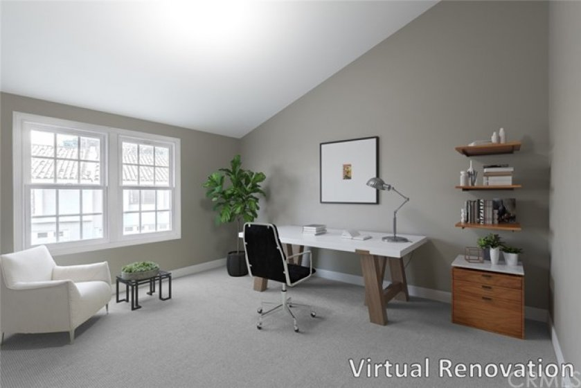 """""""Virtual renovation"""" oversized secondary bedroom and updated full bath complete the upstairs accommodations!"""