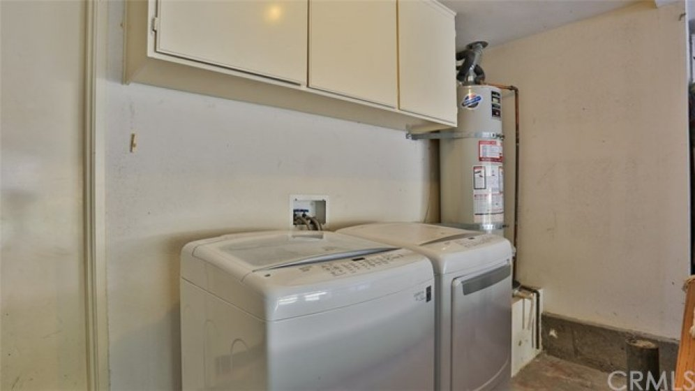 Washer and Dryer hook-ups in garage - washer & dryer are available for purchase outside of escrow.