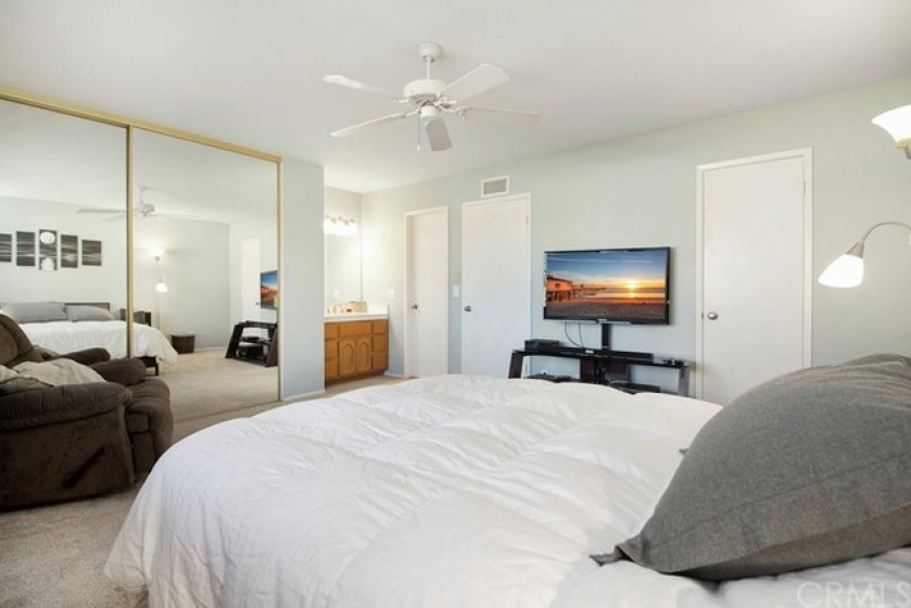 Master bedroom also offers two closets&#x3B; vanity/sink + direct access to guest full bath.