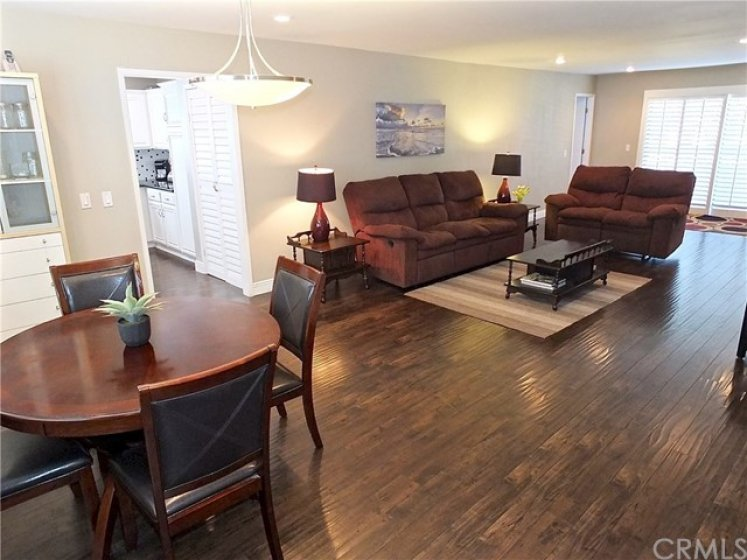 Open Concept Combining Dining & Living Room Space!