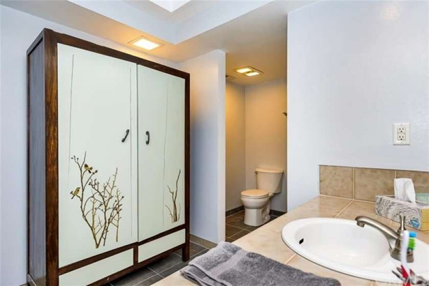 Master bath with separate toilet room.