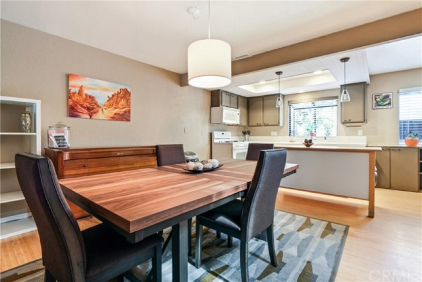 A large dining area is just off the kitchen.