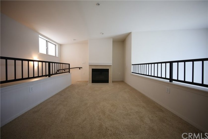 Loft View #2 with Fireplace