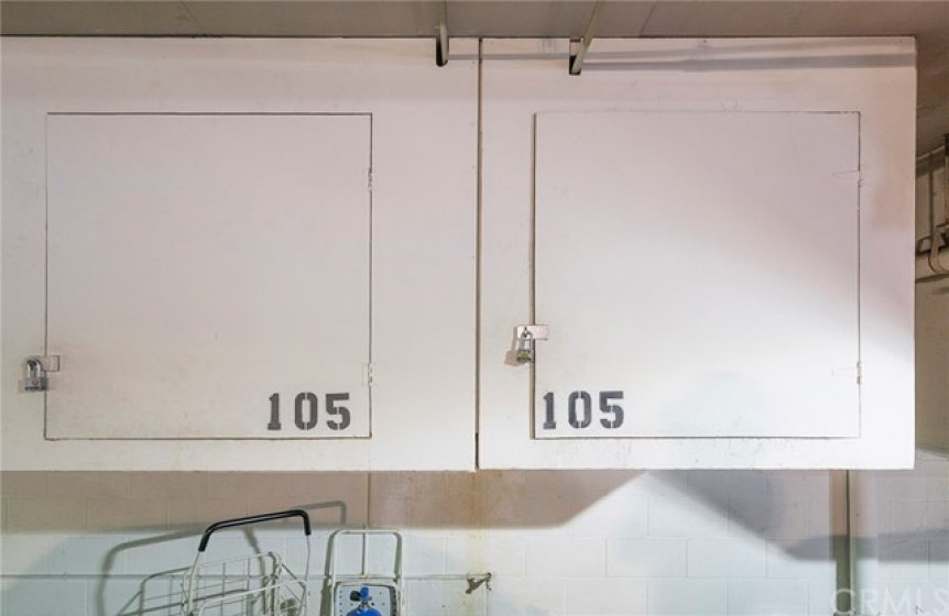 2 Assigned Storage Cabinets