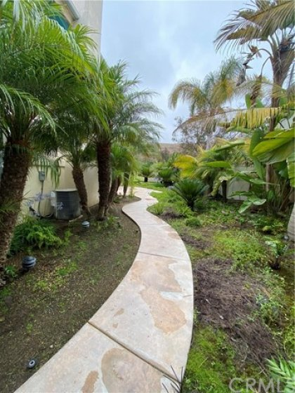 Walkway From Gated Entry To Rear Patio Area.