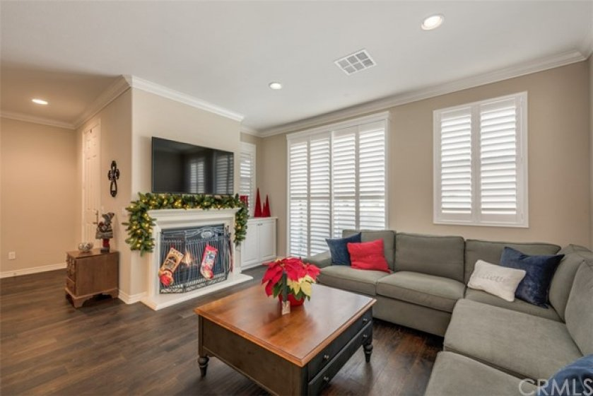 Front room with added state of the art shutters... no poles or strings... simple touch of the hand adjustments...