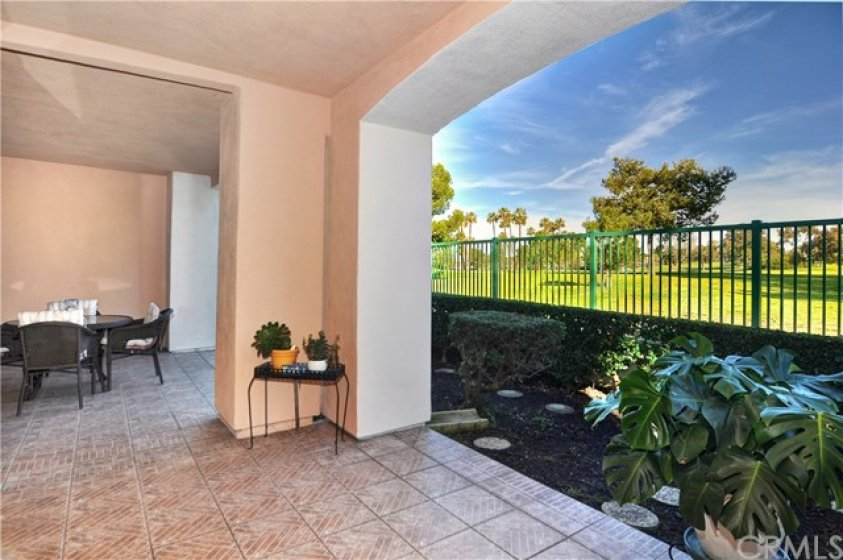 Really spacious patio with front row views.