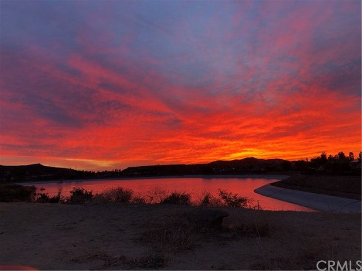 Sunset Views of Reservoir when filled...