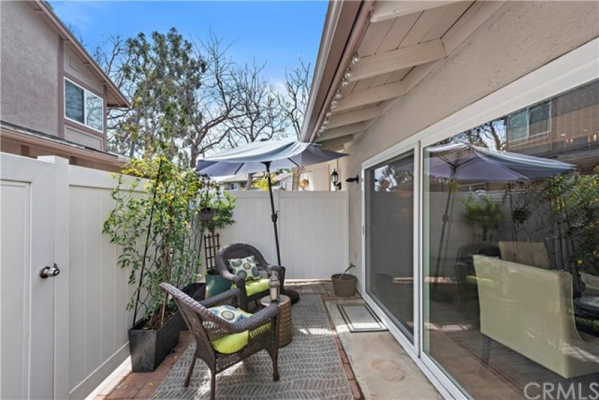 Enjoy your spacious private patio.