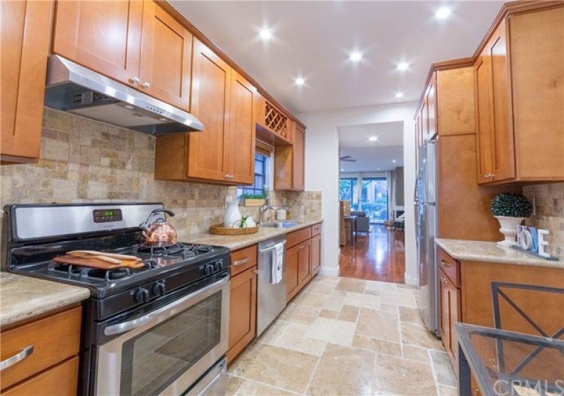 Remodeled Kitchen with Mable Cabinet