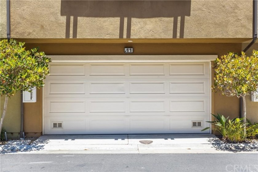 2 car attached garage with storage and direct access