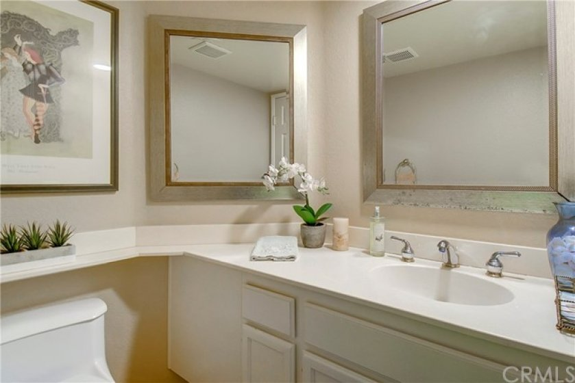 Spacious Powder Room on Entry/Living level